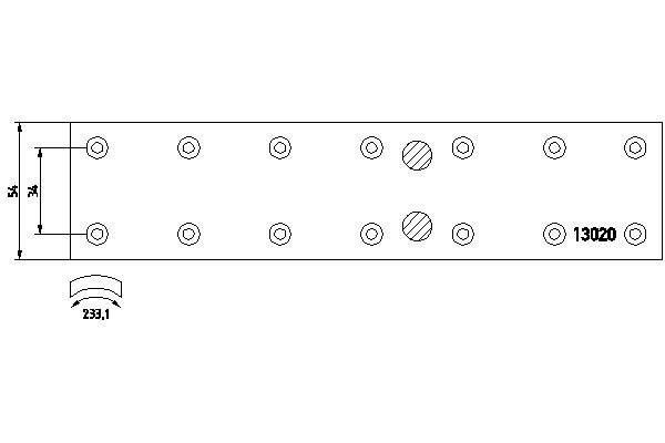 1302001 TEXTAR Bremsbelagsatz, Trommelbremse für DENNIS online bestellen