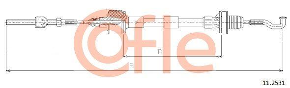 92112531 COFLE Länge: 727/417mm Seilzug, Kupplungsbetätigung 11.2531 günstig kaufen