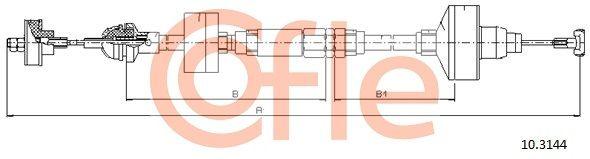 92103144 COFLE Länge: 917/447+110mm Seilzug, Kupplungsbetätigung 10.3144 günstig kaufen