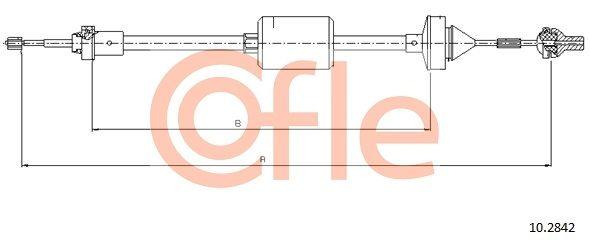COFLE Seilzug, Kupplungsbetätigung 10.2842