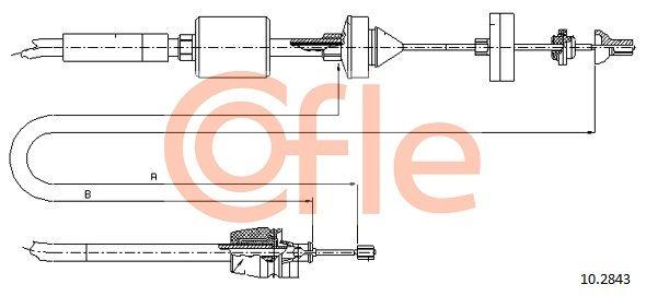 92102843 COFLE Länge: 969/681mm Seilzug, Kupplungsbetätigung 10.2843 günstig kaufen