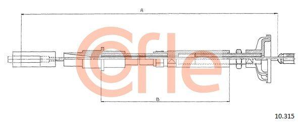 COFLE Seilzug, Kupplungsbetätigung 10.315