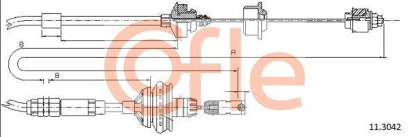92113042 COFLE Länge: 934/594mm Seilzug, Kupplungsbetätigung 11.3042 günstig kaufen