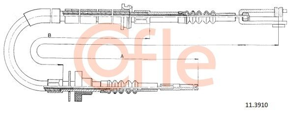 COFLE: Original Kupplungszug 11.3910 ()