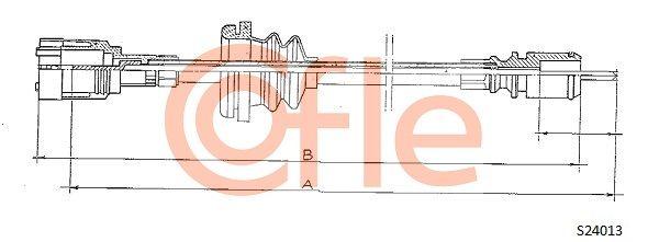 Hastighetsmätarwire S24013 COFLE — bara nya delar