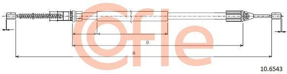 RENAULT TWINGO 2015 Handbremse - Original COFLE 10.6543 Länge: 1460/1053mm