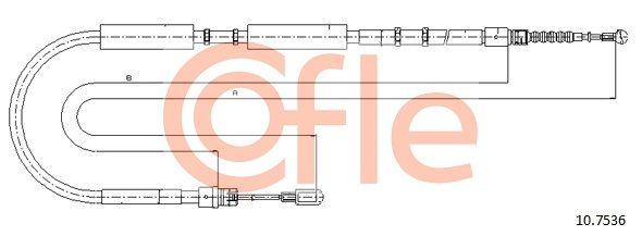 AUDI A4 2013 Handbremse - Original COFLE 10.7536 Länge: 2005/1843mm