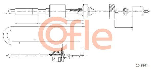 92102844 COFLE Länge: 960/658mm Seilzug, Kupplungsbetätigung 10.2844 günstig kaufen