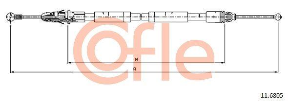 COFLE: Original Handbremse 11.6805 (Länge: 1603/1465mm)