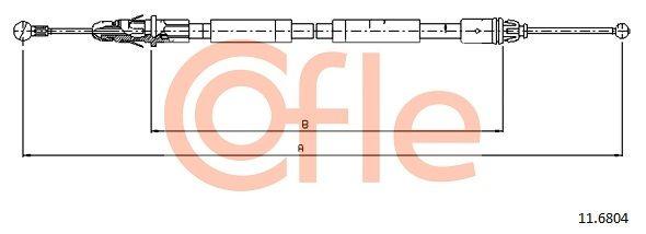 COFLE: Original Bremsseil 11.6804 (Länge: 1503/1365mm)