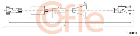 Hastighetsmätarvajer S1H001 COFLE — bara nya delar