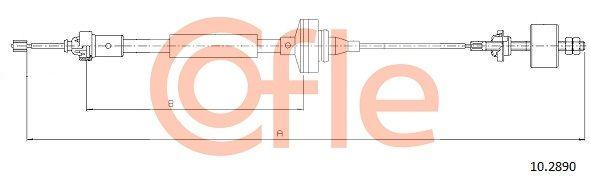 92102890 COFLE Länge: 1133/681mm Seilzug, Kupplungsbetätigung 10.2890 günstig kaufen