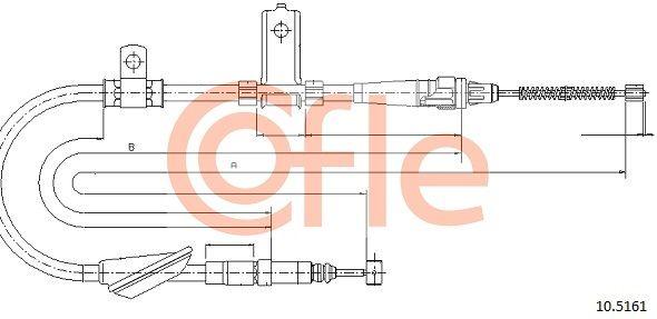 COFLE: Original Handbremsseil 10.5161 (Länge: 1600/1285mm)