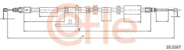 COFLE: Original Bremsseil 10.5167 (Länge: 1573/1292mm)