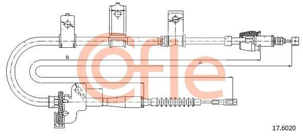 COFLE: Original Handbremse 17.6020 (Länge: 1515/1306mm)