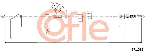 COFLE: Original Handbremsseil 17.1082 (Länge: 1634/1465mm)