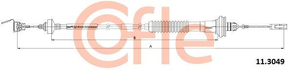 COFLE Seilzug, Kupplungsbetätigung 11.3049
