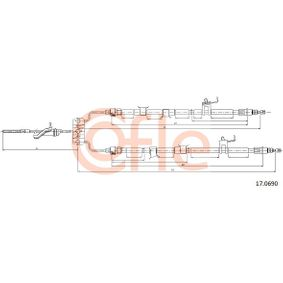 COFLE Bremsseil Seilzug Feststellbremse 17.0690 hinten links rechts für MAZDA BL