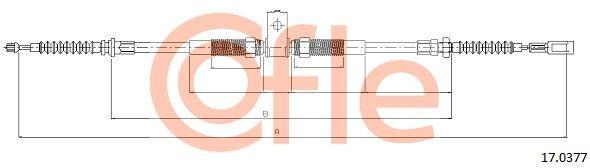 92170377 COFLE hinten, links Länge: 896/740mm Seilzug, Feststellbremse 17.0377 günstig kaufen