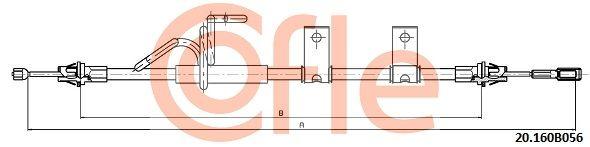 commande à câble frein de stationnement k13909 pour DODGE FIAT A.B.S