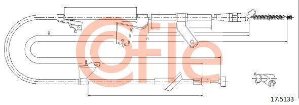 COFLE: Original Handbremse 17.5133 (Länge: 1625/1395mm)