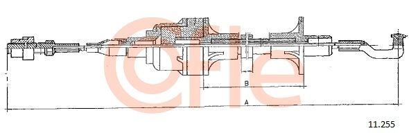 COFLE: Original Kupplungszug 11.255 ()