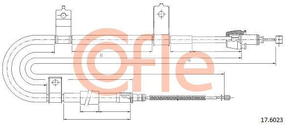 COFLE: Original Bremsseil 17.6023 (Länge: 1488/1252mm)