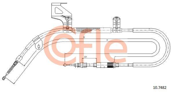 VW PASSAT 2016 Handbremse - Original COFLE 10.7482 Länge: 1890/1577+158mm