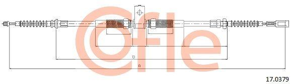 COFLE Seilzug, Feststellbremse für RENAULT TRUCKS - Artikelnummer: 17.0379