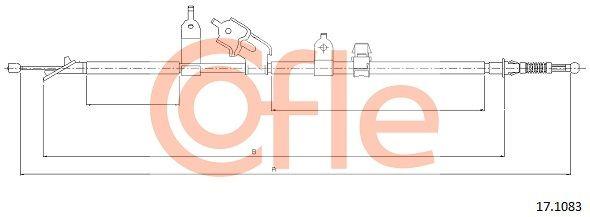 COFLE: Original Seilzug Feststellbremse 17.1083 (Länge: 1678/1511mm)