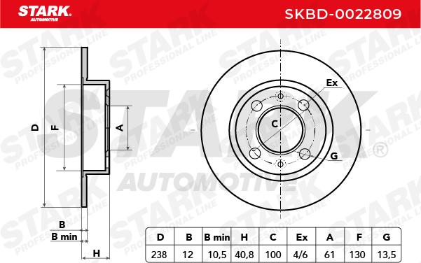 SKBD-0022809 Bremsscheiben Satz STARK Erfahrung