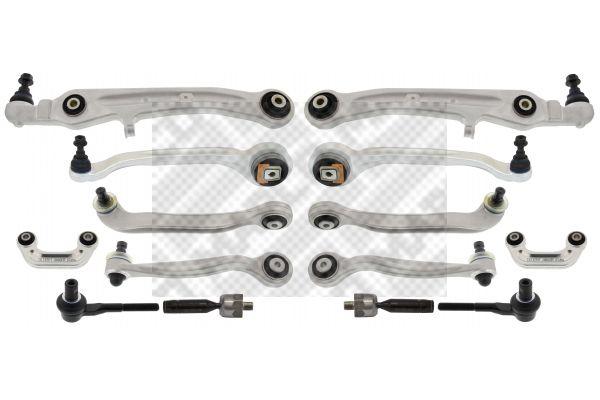 Achat de 53737 MAPCO Essieu avant droit, Essieu avant gauche, inférieur, supérieur, avec bielle/barre de poussée, avec rotule axiale Kit bras de suspension 53737 pas chères