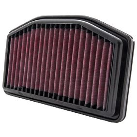 Moto K&N Filters Langzeitfilter Länge: 256mm, Breite: 148mm, Höhe: 21mm Luftfilter YA-1009R kaufen