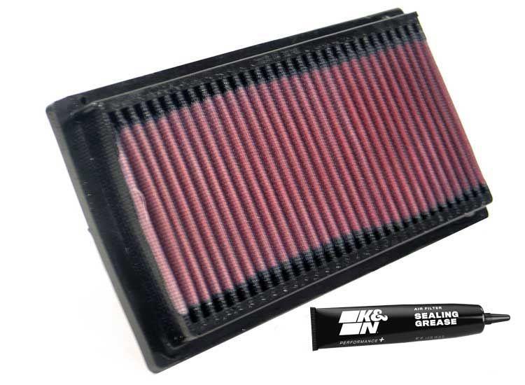 Moto K&N Filters Långtidsfilter L: 224mm, L: 224mm, B: 114mm, H: 22mm Luftfilter YA-8596 köp lågt pris
