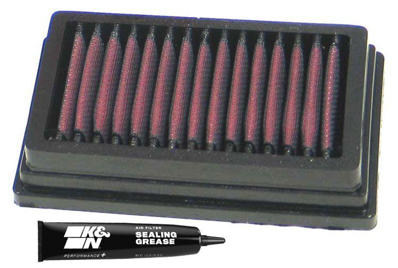 Moto K&N Filters filtr o podwyższonej trwałości Długość: 149[mm], Długość: 149[mm], Szerokość: 89[mm], Wys.: 32[mm] Filtr powietrza BM-1204 kupić niedrogo