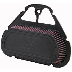 Moto K&N Filters filtr o podwyższonej trwałości Długość: 316[mm], Szerokość: 249[mm], Wys.: 76[mm] Filtr powietrza YA-6001 kupić niedrogo