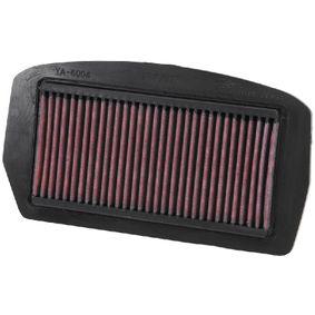 Achat de Moto K&N Filters Filtres de longue durée Longueur: 270mm, Largeur: 132mm, Hauteur: 21mm Filtre à air YA-6004 pas chères