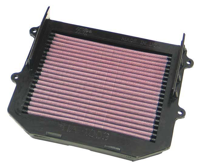 Motas K&N Filters Filtro de longa duração Comprimento: 217mm, Comprimento: 217mm, Largura: 216mm, Altura: 44mm Filtro de ar HA-1003 comprar económica
