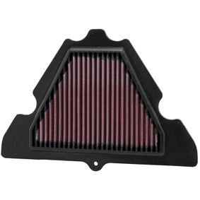 Купете мото K&N Filters фълтър за дълъг пробег дължина: 275мм, ширина: 183мм, височина: 22мм Въздушен филтър KA-1010 евтино