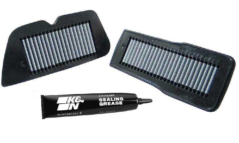 Moto K&N Filters filtr o podwyższonej trwałości Długość: 216[mm], Długość: 216[mm], Szerokość: 89[mm], Wys.: 22[mm] Filtr powietrza SU-1487 kupić niedrogo