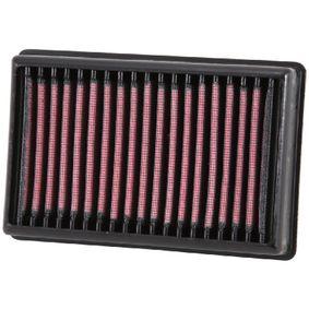 Køb moto K&N Filters Langtidsfilter Länge: 171mm, Breite: 114mm, Höhe: 38mm Luftfilter BM-1113 billige