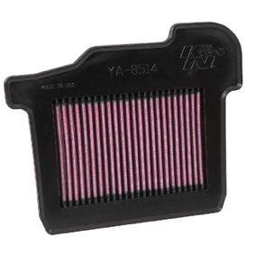 Pirkti moto K&N Filters ilgalaikis filtras ilgis: 256mm, plotis: 217mm, aukštis: 25mm Oro filtras YA-8514 nebrangu