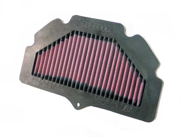 Achat de Moto K&N Filters Filtres de longue durée Longueur: 254mm, Longueur: 254mm, Largeur: 149mm, Hauteur: 32mm Filtre à air SU-6006 pas chères