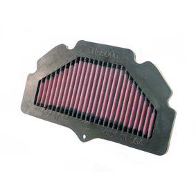 Motas K&N Filters Filtro de longa duração Comprimento: 254mm, Largura: 149mm, Altura: 32mm Filtro de ar SU-6006 comprar económica