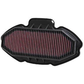 Motas K&N Filters Filtro de longa duração Comprimento: 318mm, Largura: 135mm, Altura: 38mm Filtro de ar HA-7012 comprar económica