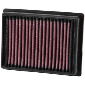 Achat de Moto K&N Filters Filtres de longue durée Longueur: 186mm, Largeur: 140mm, Hauteur: 41mm Filtre à air KT-1113 pas chères