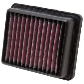 Pirkti moto K&N Filters ilgalaikis filtras ilgis: 141mm, plotis: 110mm, aukštis: 40mm Oro filtras KT-1211 nebrangu