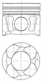 KOLBENSCHMIDT: Original Motor Kolben 41070620 ()