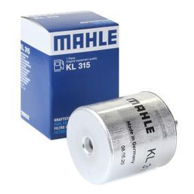 Comprare moto MAHLE ORIGINAL Filtro per condotti/circuiti Alt.: 79,35mm, Diametro alloggiamento/sede: 54,6mm Filtro carburante KL 315 poco costoso
