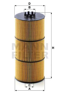 MANN-FILTER Filtr oleju do MERCEDES-BENZ - numer produktu: HU 12 001 z